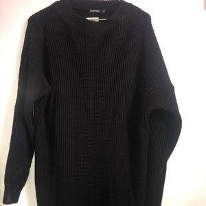 Boohoo plus crew neck sweater dress